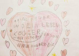 Kinderzeichnung unseres Werbegeschenks